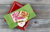 Cookies For The Holiday Season On Plate