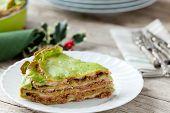 Spinach Lasagna Portion
