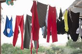 Drying Laundry In Mexican Ghetto