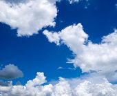 foto of float-plane  - blue sky with clouds closeup - JPG