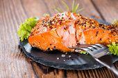 Portion Of Smoked Salmon