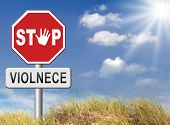 picture of stop bully  - no violence or aggression stop violent or aggressive actions no war or fights prevention - JPG