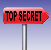 stock photo of top-secret  - top secret file confidential and classified secrecy restricted information - JPG