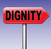 stock photo of self-confident  - dignity self esteem or respect confidence and pride road sign  - JPG