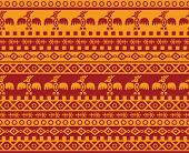pic of mexican  - vector seamless abstract geometric pattern in aztec and mexican style with traditional ornaments and eagle images - JPG
