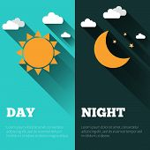 foto of cold-weather  - Sun moon and stars - JPG