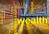 pic of possess  - Background text pattern concept wordcloud illustration of wealth abundance glowing light - JPG