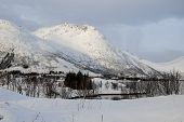 picture of lofoten  - Mountain At Winter In Svolvaer - JPG