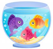 stock photo of fishbowl  - Aquarium theme image 7  - JPG