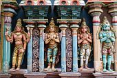 image of trichy  - Four idols of Indian gods  - JPG