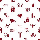 pic of breast-pump  - sex theme simple red icons seamless pattern eps10 - JPG