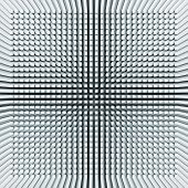 image of inverted  - Abstract digital background with light blue invert perspective of square pattern on the wall 3d illustration - JPG