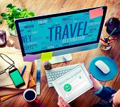stock photo of globalization  - Travel Explore Global Destination Trip Adventure Concept - JPG