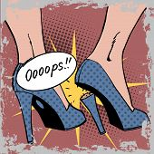 image of oops  - oops broke the heel the woman a nasty surprise - JPG