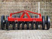 stock photo of ram  - view tillage machine  - JPG