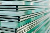 picture of temperance  - Sheets of Factory manufacturing tempered clear float glass panels cut to size - JPG