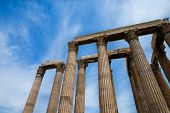 picture of akropolis  - Temple of the Olympian Zeus and the Acropolis in Athens - JPG