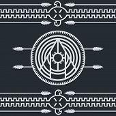 pic of nativity  - native ethnic sign theme vector art illustration - JPG