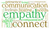 foto of compassion  - Empathy word cloud on a white background - JPG