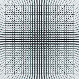 stock photo of inverted  - Abstract digital background with light blue invert perspective of square pattern on the wall 3d illustration - JPG