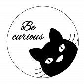 Black Cat Card poster