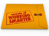 Secrets of Working Smarter how to advice in yellow classified or confidential envelope for learning  poster