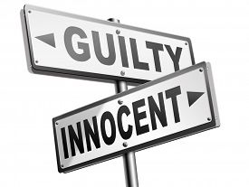 picture of jury  - innocent or guilty presumption of innocence until proven guilt as charged in a fair trial for crime suspect  - JPG