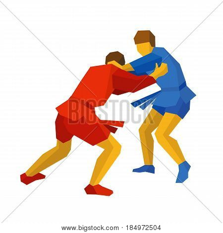 Two sambo fighters