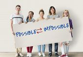 Motivational Choices Possible Impossible Text poster