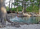 Playing In The Frio River