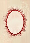 Vector illustration of romantic floral frame for greeting card