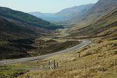 A Road In A Glen, Scotland.