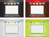 website template - four colour variants