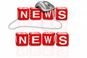 latest news hot news breaking news news button news icon red dices spelling the word news with or wi