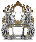 Old Victorian Frame Two Man Two Woman
