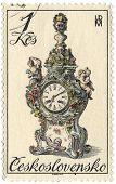 CZECHOSLOVAKIA - CIRCA 1979: A stamp printed in Czechoslovakia shows image of the clock, circa 1979.