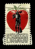 USA - CIRCA 1950: A stamp printed in USA shows image of the dedicated to the Johnny Appleseed circa