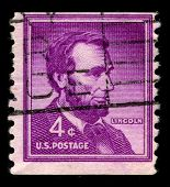 USA - CIRCA 1930: A stamp printed in USA shows image portrait Abraham Lincoln  served as the 16th Pr