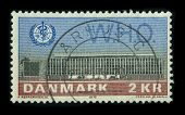 DANMARK - CIRCA 1972: A stamp dedicated to The World Health Organization (WHO) is a specialised agen
