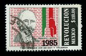 MEXICO - CIRCA 1985: A stamp dedicated to the Francisco Ignacio Madero Gonzalez was a politician, wr