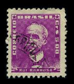 BRAZIL - CIRCA 1940: A stamp shows image portrait Ruy Barbosa de Oliveira (November 5, 1849 - March