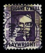 USA-CIRCA 1978: A stamp printed in USA shows portrait Eugene Gladstone O'Neill (16 October 1888 - 27
