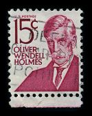USA - CIRCA 1980: A stamp shows image portrait Oliver Wendell Holmes, Sr. (August 29, 1809 - October