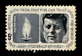 USA-CIRCA 1970:A stamp printed in USA shows image portrait John Fitzgerald