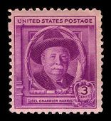USA-CIRCA 1940:A stamp printed in USA shows image of Joel Chandler Harris was an American journalist