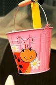 Pink Kids Sand Bucket