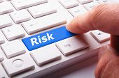 image of fail-safe  - risk management concept with word on key showing risky investment - JPG