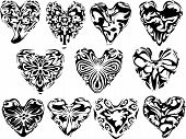 Decorative Hearts.Eps