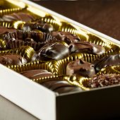 foto of valentine candy  - assorted box of chocolates - JPG