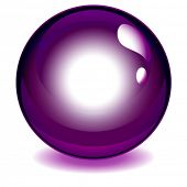 Dark purple reflective crystal ball